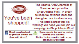 Atlanta chamber of Commerce - You've been shopped!